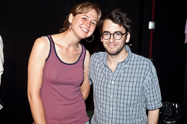 Clubbed Thumb's Associate Director Diana Konopka and playwright Michael Mitnick