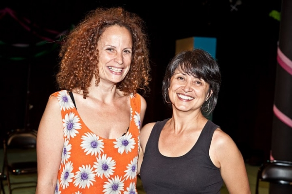 Producing Artistic Director Maria Striar and playwright KJ Sanchez