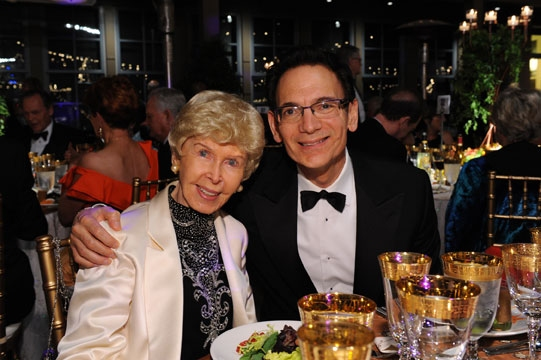 Audrey Geisel and Old Globe Executive Producer Lou Spisto. Geisel will be honored at  Photo