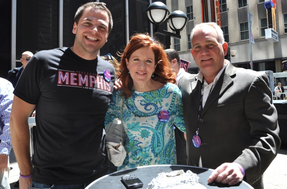 Erik Alden, Magee Hickey (WCBS Channel 2) and Bill Tawpash Executive Director of Children's Miracle Network Hospitals Metro New York