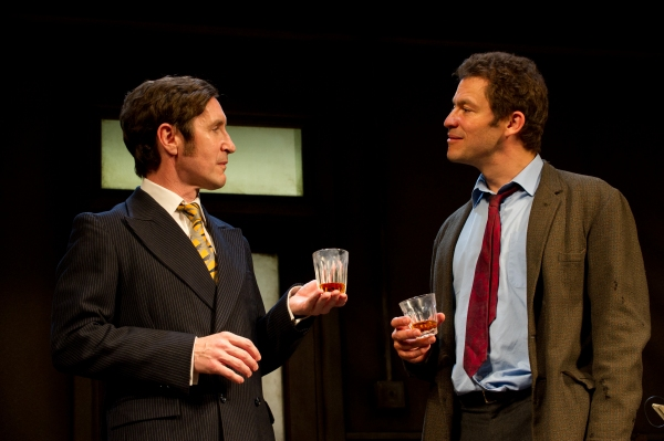 Paul McGann (l) as Reg Nuttall and Dominic West (r) as Butley Photo