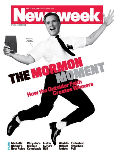 Photo Flash: Newsweek Cover Mixes Mitt Romney and THE BOOK OF MORMON