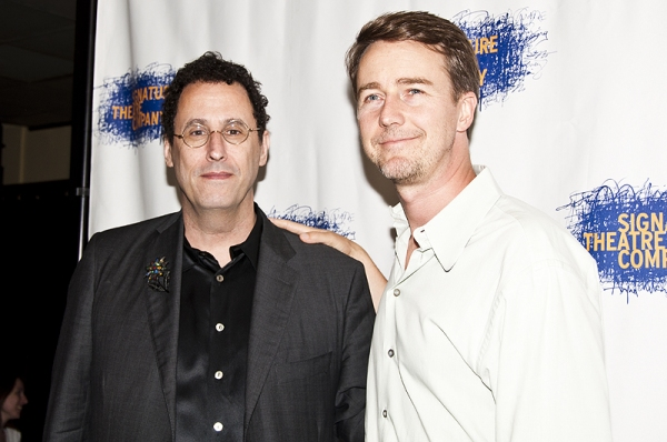 Tony Kushner & Edward Norton Photo