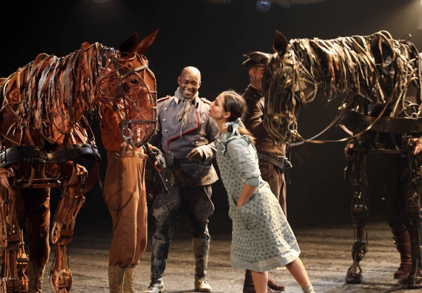 L to R - Joey, Friedrich Muller (Patrick Robinson), Emilie (Sarah Mardel) and Topthorn