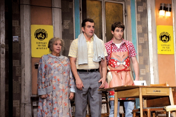 Grandma (Diane Langton) Dad (Martin Marquez) and Tony (Tom Lorcan)