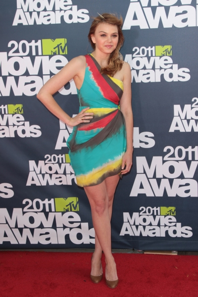 Aimee Teegarden pictured at the 2011 MTV Movie Awards Arrivals at Universal Studios' Gibson Amphitheatre on June 5, 2011 in Universal City, California. © RD / Orchon / Retna Digital