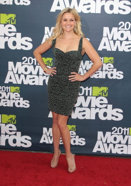 Reese Witherspoon pictured at the 2011 MTV Movie Awards Arrivals at Universal Studios' Gibson Amphitheatre on June 5, 2011 in Universal City, California. © RD / Orchon / Retna Digital at 2011 MTV Movie Awards Red Carpet
