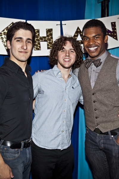 Alexander Aguilar, Teddy Toye and Max Kumangau at LYSISTRATA JONES Opening Night!