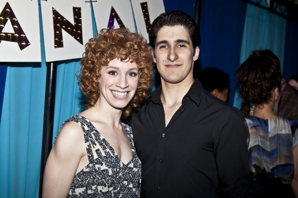 Lindsay Nicole Chambers and Alexander Aguilar at LYSISTRATA JONES Opening Night!