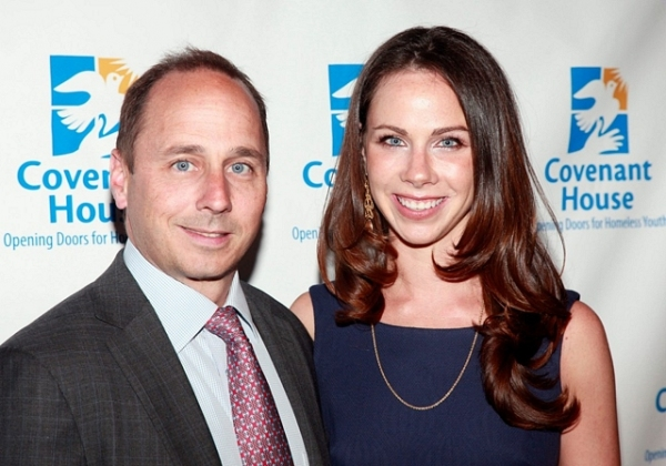 Brian Cashman and former first daughter Barbara Bush