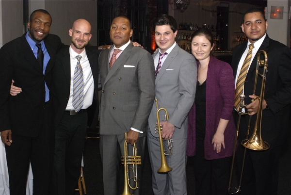Reginald Quinerly (Drums), Alan Hampton (Bass), Wynton Marsalis, Tatum Greenblatt (Trumpet)*, Carmen Staaf (piano), Willie Applewhite (Trombone) at Wynton Marsalis Honored by Interfaith Center of NY