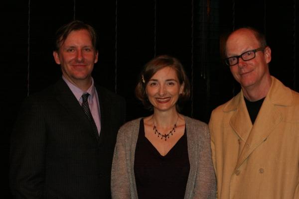John Langs and writers Joy Gregory and Gunnar Madsen Photo