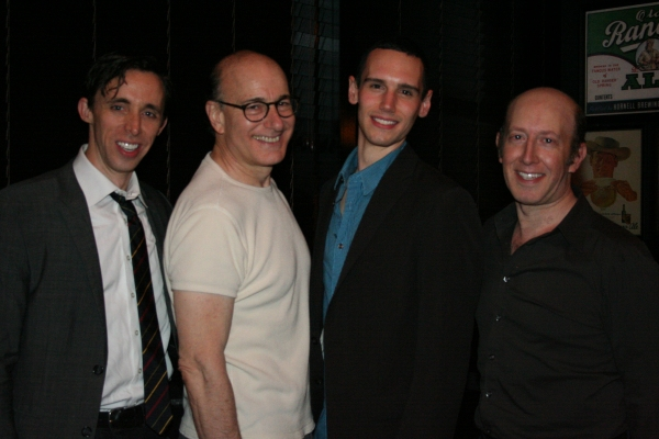 Kevin Cahoon, Peter Friedman, Cory Michael Smith and Steve Routman at THE SHAGGS Opens at Playwrights Horizons