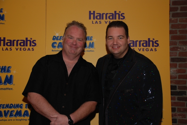 Caveman star Kevin Burke and Ryan Ahern, star of Piano! Las Vegas