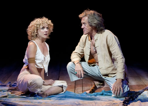 Winslow Corbett as Miranda and Miles Anderson as Prospero in The Tempest by William Shakespeare, directed by Adrian Noble, at The Old Globe June 5 - Sept. 25, 2011.  Photo by Henry DiRocco.
