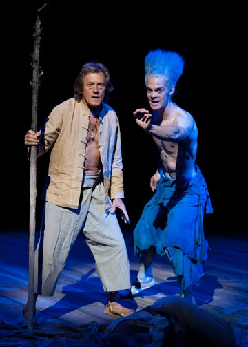 (from left) Miles Anderson as Prospero and Ben Diskant as Ariel in The Tempest by William Shakespeare, directed by Adrian Noble, at The Old Globe June 5 - Sept. 25, 2011.  Photo by Henry DiRocco. at The Old Globe's THE TEMPEST