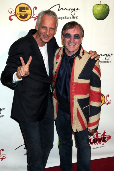 Artistic Guide Gilles Ste-Croix and member of the cast at the Beatles LOVE by Cirque du Soleil 5th Anniversay Celebration held at the Mirage Hotel and Casino Las Vegas