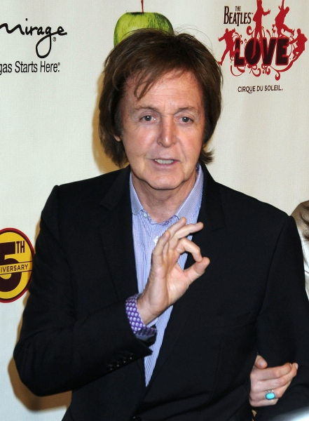 Paul McCartney at the Beatles LOVE by Cirque du Soleil 5th Anniversay Celebration held at the Mirage Hotel and Casino Las Vegas.