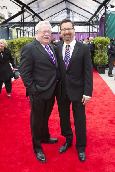 Armistead Maupin (left) with husband Christopher Turner