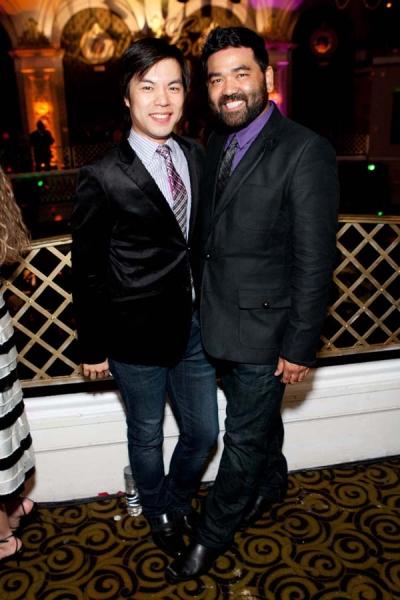 Alex Hsu (left) with boyfriend Lawrence-Michael Arias