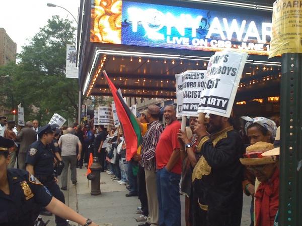 Photo Coverage: SCOTTSBORO BOYS Protesters Crash the Tonys