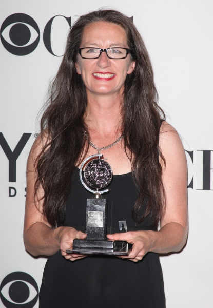 Paule Constable in the Press Room at The 65th Annual Tony Awards in New York City.