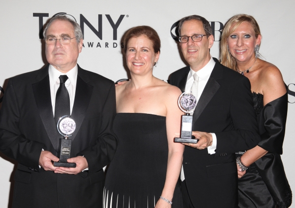 Todd Haimes and Harold Wolpert  in the Press Room at The 65th Annual Tony Awards in New York City.