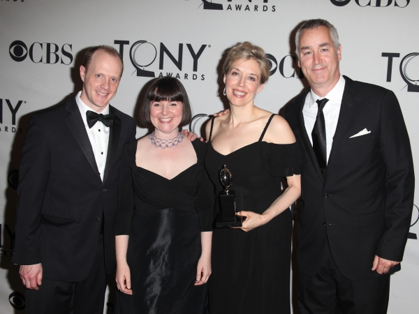 Andy White with the The Lookingglass Theatre Company in the Press Room at The 65th Annual Tony Awards in New York City