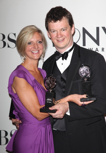 Marianne Elliott and Tom Morris in the Press Room at The 65th Annual Tony Awards in N Photo