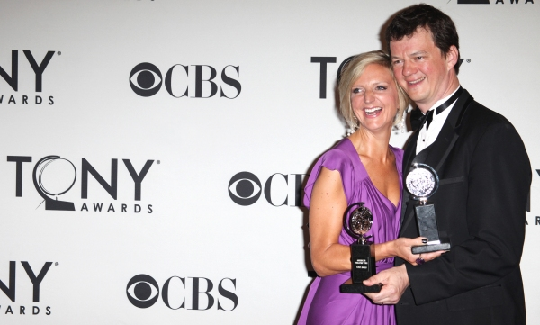 Marianne Elliott & Tom Morris in the Press Room at The 65th Annual Tony Awards in New Photo