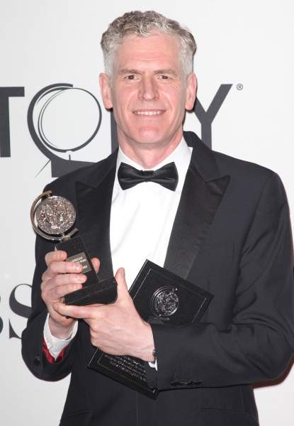 Christopher Shutt in the Press Room at The 65th Annual Tony Awards in New York City.  Photo