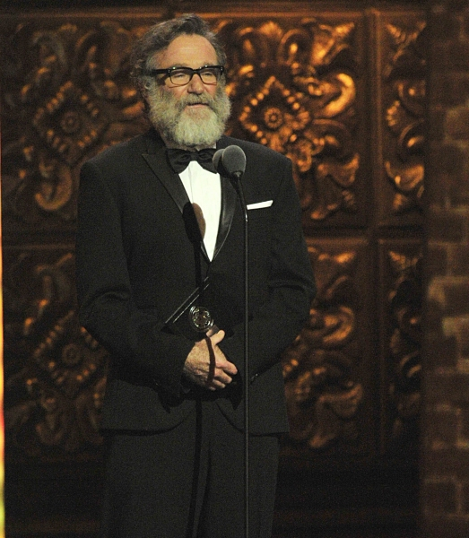 Robin Williams is shown on stage at the 2011 Tony Awards held at the Beacon Theatre in New York on June 12, 2011.   CBS/John P. Filo /Landov at 2011 Tony Awards Ceremony!