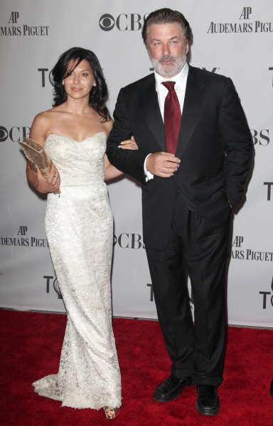 Hilaria Thomas & Alec Baldwin attending The 65th Annual Tony Awards in New York City.  at 2011 Tony Awards Arrivals Part 1!