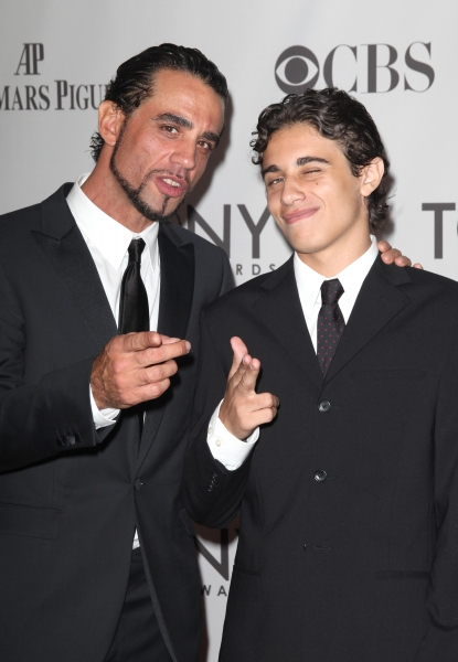 Bobby Cannavale and his son Jake Photo attending The 65th Annual Tony Awards in New York City.