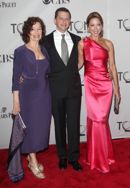Gretchen Cryer, Jon Cryer and Lisa Joyner attending The 65th Annual Tony Awards in New York City.