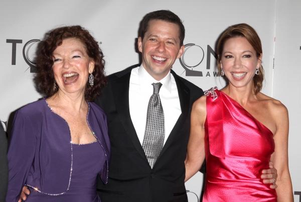 Gretchen Cryer, Jon Cryer and Lisa Joyner attending The 65th Annual Tony Awards in Ne Photo