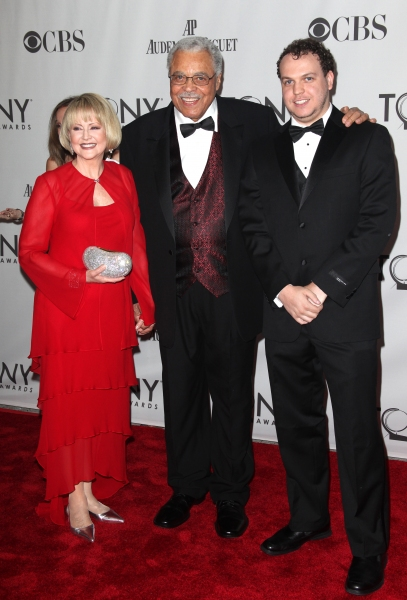 Cecilia Hart & James Earl Jones & son attending The 65th Annual Tony Awards in New York City.