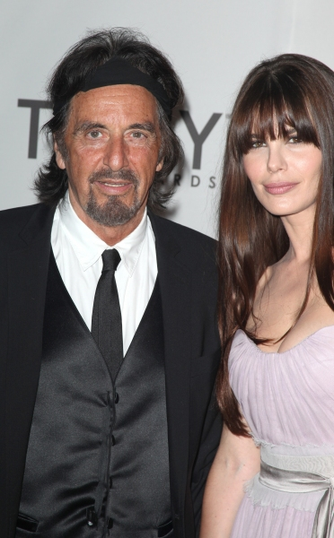 Al Pacino & Lucila Sola attending The 65th Annual Tony Awards in New York City.