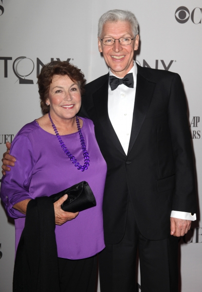 Helen Reddy & Tony Sheldon attending The 65th Annual Tony Awards in New York City.  at 2011 Tony Awards Arrivals Part 2