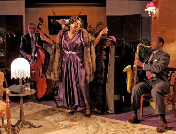 Jim Hankins (bass), Miche Braden (Bessie Smith), Aaron Graves (piano), Keith Loftis (saxophone).