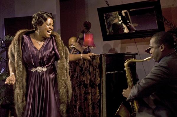 Miche Braden (Bessie Smith), Keith Loftis (saxophone).  Photo