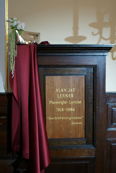 Photo Flash: Alan Jay Lerner Gets Memorial Plaque at St. Paul's Church, Covent Garden
