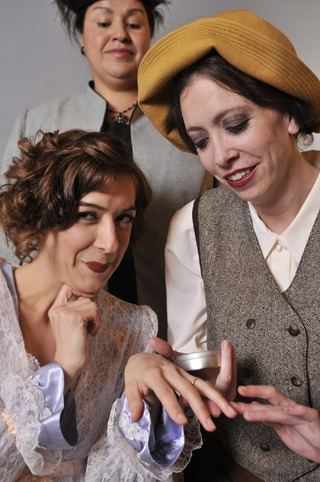 Victoria (Martina Ohlhauser), Mrs. Shuttleworth (Lydia Blanco), and Miss Dennis (Amy Lewis)