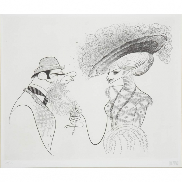 Helo Dolly - Barbra Streisand and Walter Matthau at Al Hirschfeld Drawings Up for Auction & More for 108th Late Birthday
