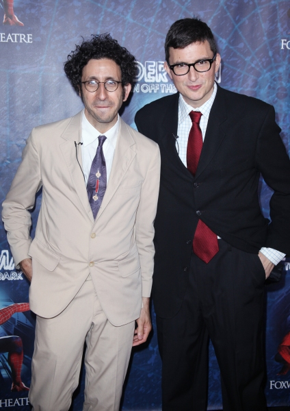 Glen Berger and Roberto Aguirre-Sacasa attending the Opening Night Performance of 'Spider-Man Turn Off The Dark' at the Foxwoods Theatre in New York City. at SPIDER-MAN Starry Arrivals - Part 1