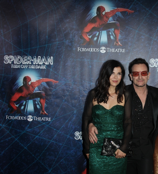 Ali Hewson & Bono attending the Opening Night Performance of 'Spider-Man Turn Off The Dark' at the Foxwoods Theatre in New York City.