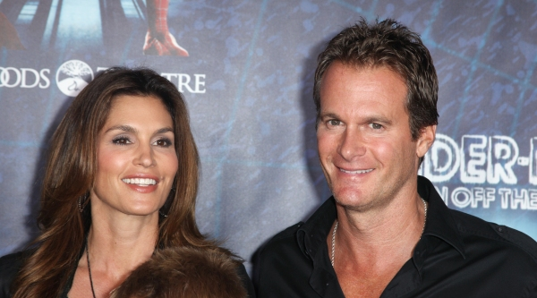 Cindy Crawford & Rande Gardner attending the Opening Night Performance of 'Spider-Man Turn Off The Dark' at the Foxwoods Theatre in New York City.