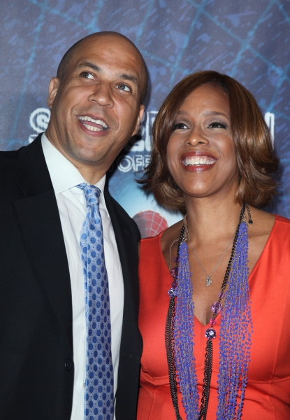 Cory Booker & Gayle King attending the Opening Night Performance of 'Spider-Man Turn Off The Dark' at the Foxwoods Theatre in New York City.
