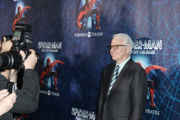 Steve Martin attending the Opening Night Performance of 'Spider-Man Turn Off The Dark' at the Foxwoods Theatre in New York City. at SPIDER-MAN Starry Arrivals - Part 2