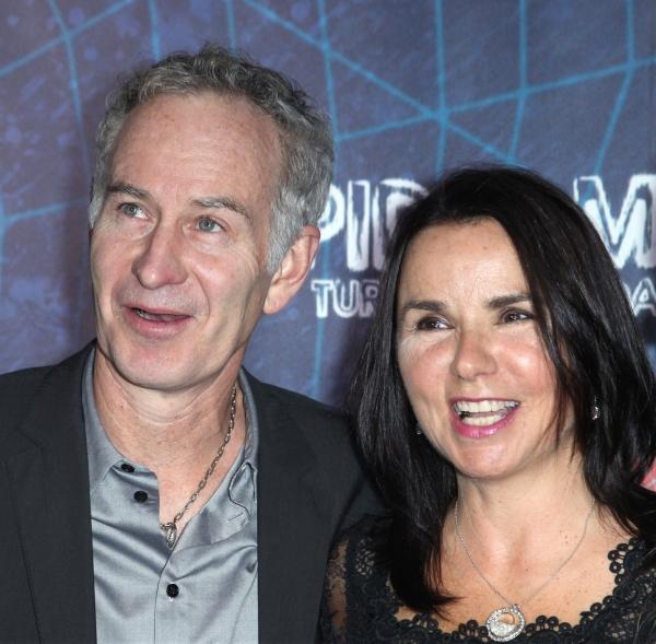John McEnroe, Patty Smyth attending the Opening Night Performance of 'Spider-Man Turn Photo